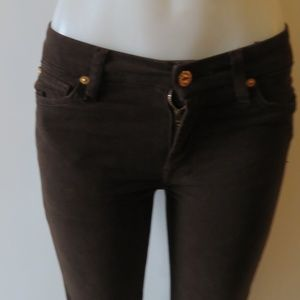 7 FOR ALL MANKIND SLIM CIGARETTE BROWN JEANS 27*